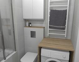 Mieszkanie (Kraków) - Mała szara łazienka w bloku w domu jednorodzinnym bez okna, styl klasyczny - zdjęcie od Agnieszka Buchta-Swoboda Design - Homebook