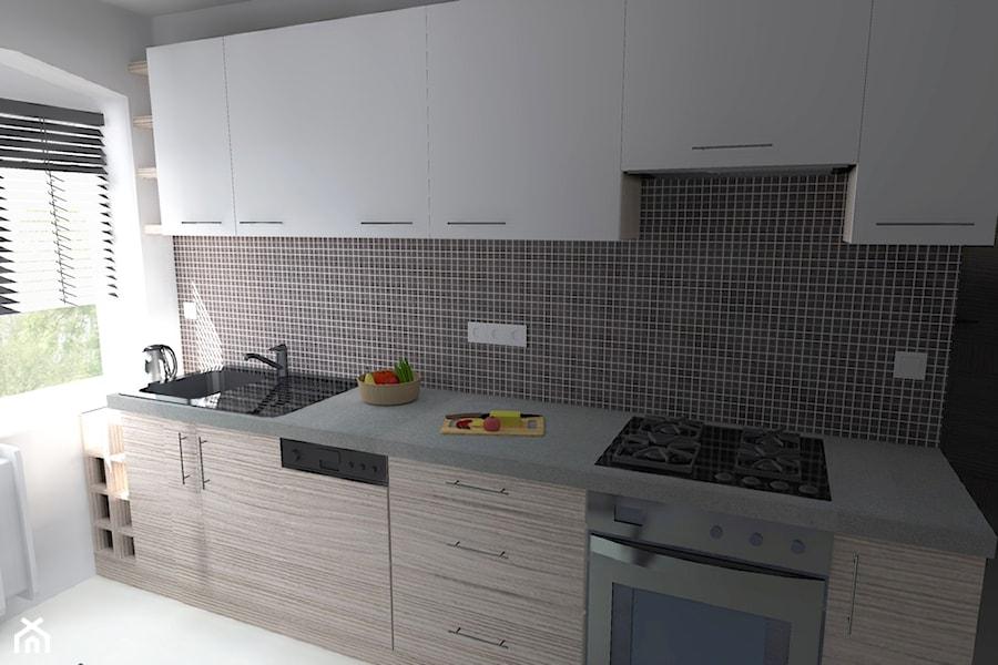 Wąska kuchnia w bloku  zdjęcie od Agnieszka Buchta   -> Kuchnie Nowoczesne Male W Bloku