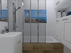 Mieszkanie (Lubliniec) - Średnia łazienka w bloku w domu jednorodzinnym bez okna, styl włoski - zdjęcie od Agnieszka Buchta-Swoboda Design