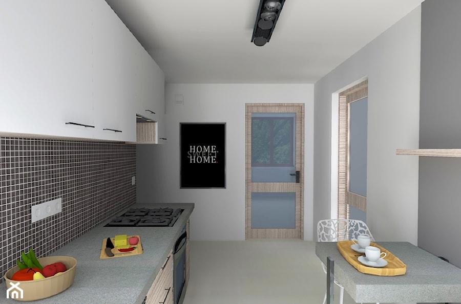 Wąska kuchnia w bloku  zdjęcie od Agnieszka Buchta Swoboda Design -> Wąska Kuchnia W Bloku Aranżacje