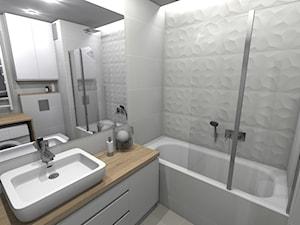 Mieszkanie (Kraków) - Średnia łazienka w bloku w domu jednorodzinnym bez okna, styl klasyczny - zdjęcie od Agnieszka Buchta-Swoboda Design