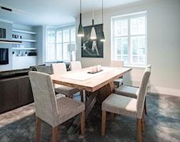 Mieszkanie w Hendon - Średni szary salon z jadalnią, styl tradycyjny - zdjęcie od Fotograf wnętrz Robert Gołębiewski