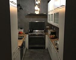 Kuchnia marzeń - Mała zamknięta czarna kuchnia w kształcie litery u, styl nowoczesny - zdjęcie od Ka Be
