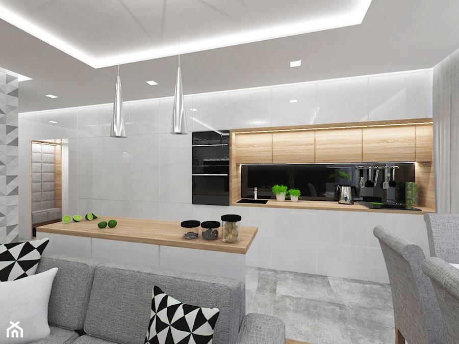 Projekt wnętrza mieszkania w Warszawie 55 m2 - Kuchnia - zdjęcie od EWMAarchitekci