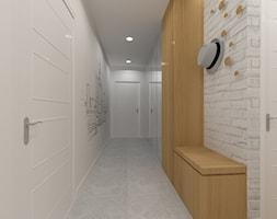 Projekt wnętrza mieszkania w Warszawie - Średni biały hol / przedpokój - zdjęcie od EWMAarchitekci