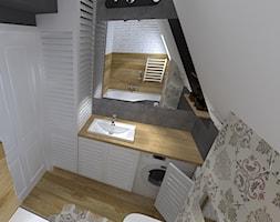 Łazienka na poddaszu - zdjęcie od Projektowanie wnętrz Olga Januszkiewicz