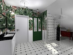 Łazienka na poddaszu - mała Havana - zdjęcie od Projektowanie wnętrz Olga Januszkiewicz