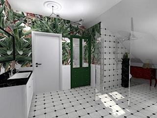 Łazienka na poddaszu - mała Havana