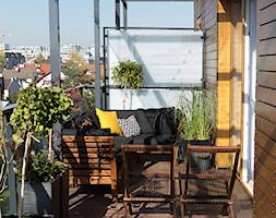 Apartament w Krakowie - projekt architekt Anna Jaje - Średni taras z tyłu domu rustykalny, styl nowoczesny - zdjęcie od Anna Kulińska - fotograf