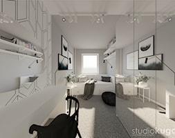 Mieszkanie w Siemianowicach Śląskich - Średni szary pokój dziecka dla chłopca dla dziewczynki dla ucznia dla nastolatka, styl skandynawski - zdjęcie od Studio kugo