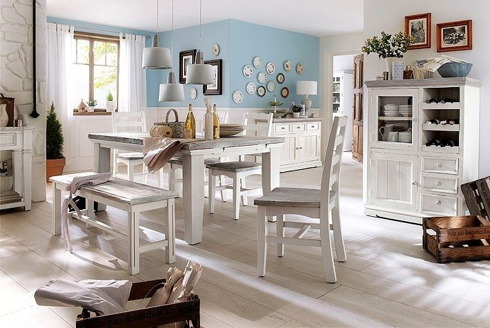 otello bia e drewniane meble do jadalni zdj cie od homebook. Black Bedroom Furniture Sets. Home Design Ideas