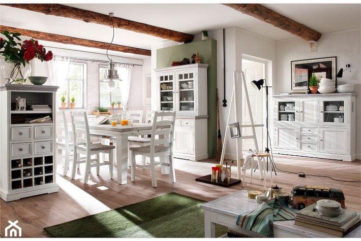 Białe meble w jadalni  zdjęcie od Mebel4u pl -> Meble Kuchenne Biale Retro