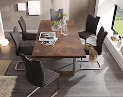 Średnia biała beżowa jadalnia w salonie, styl industrialny - zdjęcie od MEBEL4U.PL