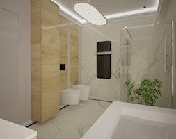 Dom jednopiętrowy - Średnia beżowa łazienka w bloku w domu jednorodzinnym bez okna, styl klasyczny - zdjęcie od DemoDesign Jacek Staniszewski Studio projektowania wnętrz - Homebook
