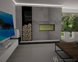 Dom jednopiętrowy na przedmieściach - Salon, styl nowoczesny - zdjęcie od DemoDesign Jacek Staniszewski Studio projektowania wnętrz - Homebook