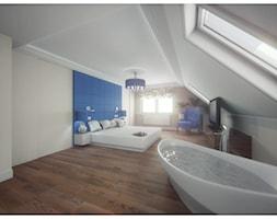 Sypialnia marzeń - Duża beżowa sypialnia małżeńska na poddaszu z łazienką, styl glamour - zdjęcie od DemoDesign Jacek Staniszewski Studio projektowania wnętrz - Homebook