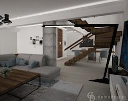 Dom jednopiętrowy na przedmieściach - Średni biały salon z jadalnią - zdjęcie od DemoDesign Jacek Staniszewski Studio projektowania wnętrz - Homebook