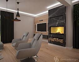 Dom jednopiętrowy - Duży szary salon, styl industrialny - zdjęcie od DemoDesign Jacek Staniszewski Studio projektowania wnętrz - Homebook