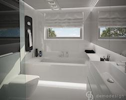 Śnieżnobiały salon kąpielowy - Łazienka, styl nowoczesny - zdjęcie od DemoDesign Jacek Staniszewski Studio projektowania wnętrz - Homebook