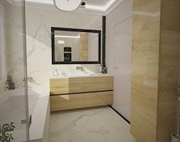 Dom jednopiętrowy - Mała biała łazienka na poddaszu w bloku bez okna, styl klasyczny - zdjęcie od DemoDesign Jacek Staniszewski Studio projektowania wnętrz - Homebook