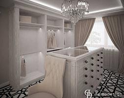 Garderoba glamour - Średnia garderoba z oknem, styl glamour - zdjęcie od DemoDesign Jacek Staniszewski Studio projektowania wnętrz