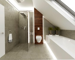 Dom jednopiętrowy na przedmieściach - Łazienka, styl nowoczesny - zdjęcie od DemoDesign Jacek Staniszewski Studio projektowania wnętrz - Homebook