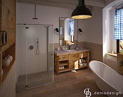 Stylowe salony kąpielowe - Średnia biała łazienka w domu jednorodzinnym z oknem, styl włoski - zdjęcie od DemoDesign Jacek Staniszewski Studio projektowania wnętrz