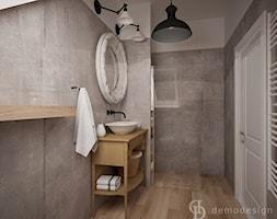 Stylowe salony kąpielowe - Średnia łazienka w bloku w domu jednorodzinnym z oknem, styl vintage - zdjęcie od DemoDesign Jacek Staniszewski Studio projektowania wnętrz