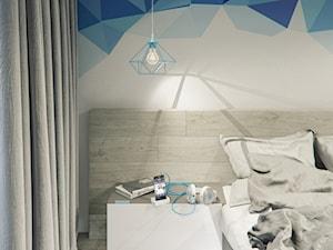 Sypialnia z akcentami turkusu/błękitów