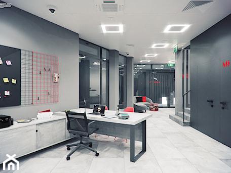 Aranżacje wnętrz - Biuro: B6 - SWSTUDIO. Przeglądaj, dodawaj i zapisuj najlepsze zdjęcia, pomysły i inspiracje designerskie. W bazie mamy już prawie milion fotografii!