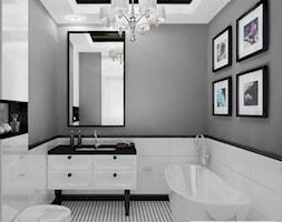 Apartament szary - Średnia biała szara łazienka, styl glamour - zdjęcie od Homeemotions.architects