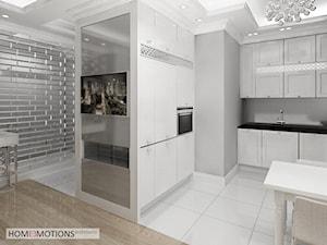 Mała średnia otwarta szara kuchnia w kształcie litery u, styl eklektyczny - zdjęcie od Homeemotions.architects