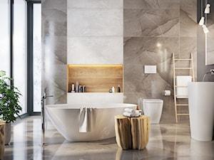 Rain 60x120 - Średnia łazienka w bloku w domu jednorodzinnym z oknem, styl eklektyczny - zdjęcie od LIS Ceramika