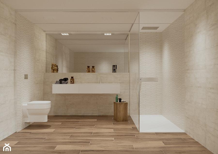 Madryt 30x90 - Duża łazienka w bloku w domu jednorodzinnym bez okna, styl tradycyjny - zdjęcie od LIS Ceramika