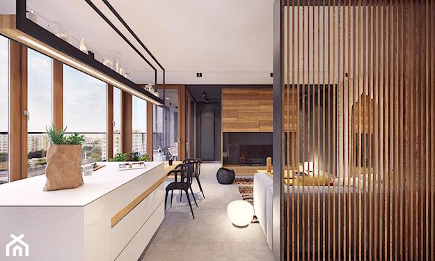 wąski apartament w stylu nowoczesnym