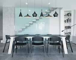 nowoczasna jadalnia, ściana szklana - zdjęcie od SARNA ARCHITEKCI / Architektura Wnętrza dla wymagających / Interior Design - Homebook