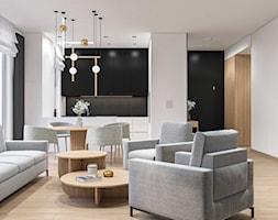 Salon z otwartą kuchnia. Nowoczesne wnętrze - zdjęcie od SARNA ARCHITEKCI / Architektura Wnętrza dla wymagających / Interior Design - Homebook