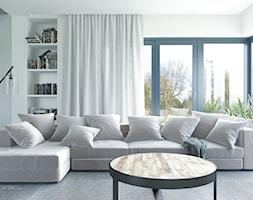 salon z dużymi przeszkleniami - zdjęcie od SARNA ARCHITEKCI / Architektura Wnętrza dla wymagających / Interior Design - Homebook