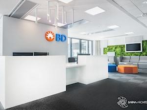 Projekt wnętrza nowoczesnego biura dla Becton Dickinson / Wrocław