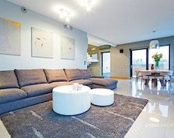 salon okrągłe stoliki - zdjęcie od SARNA ARCHITEKCI / Architektura Wnętrza dla wymagających / Interior Design - Homebook