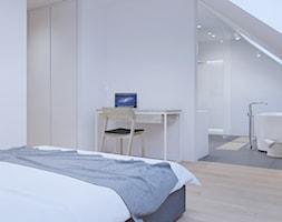 sypialnia z pokojem kąpielowym - zdjęcie od SARNA ARCHITEKCI / Architektura Wnętrza dla wymagających / Interior Design - Homebook