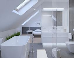 SARNA ARCHITEKCI / jasne szare wnętrze łazienki - zdjęcie od SARNA ARCHITEKCI / Architektura Wnętrza dla wymagających / Interior Design - Homebook