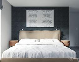 grafitowa sypialnia - zdjęcie od SARNA ARCHITEKCI / Architektura Wnętrza dla wymagających / Interior Design - Homebook