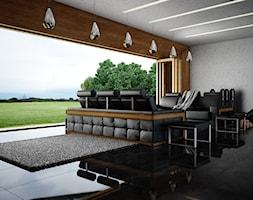 Living room / duży salon z dużym przeszkleniem - zdjęcie od SARNA ARCHITEKCI / Architektura Wnętrza dla wymagających / Interior Design - Homebook
