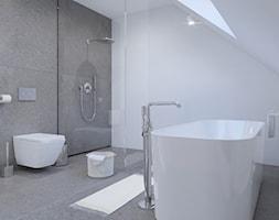 minimalistyczna łazienka, spieki kwarcowe - zdjęcie od SARNA ARCHITEKCI / Architektura Wnętrza dla wymagających / Interior Design - Homebook