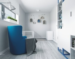 pokoj dzieciecy z zkcentem kolorystycznym - zdjęcie od SARNA ARCHITEKCI / Architektura Wnętrza dla wymagających / Interior Design - Homebook