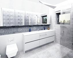 grafitowa łązienka - zdjęcie od SARNA ARCHITEKCI / Architektura Wnętrza dla wymagających / Interior Design - Homebook