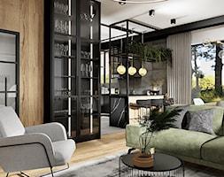 Salon z kuchnią w loftowych klimatach - Kuchnia, styl industrialny - zdjęcie od DOBRY UKŁAD-Sandra Białkowska - Homebook