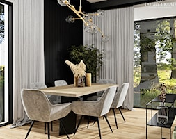 Salon z kuchnią w loftowych klimatach - Jadalnia, styl nowoczesny - zdjęcie od DOBRY UKŁAD-Sandra Białkowska - Homebook