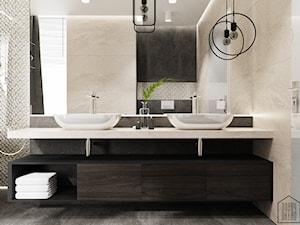 Klasyczna łazienka - Średnia beżowa łazienka w domu jednorodzinnym z oknem - zdjęcie od DOBRY UKŁAD-Sandra Białkowska